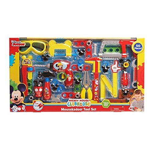 Disney 50-Piece Mickey Mouse Club House Mousekadoer Tool Set / Latest Version Including NEW Tools