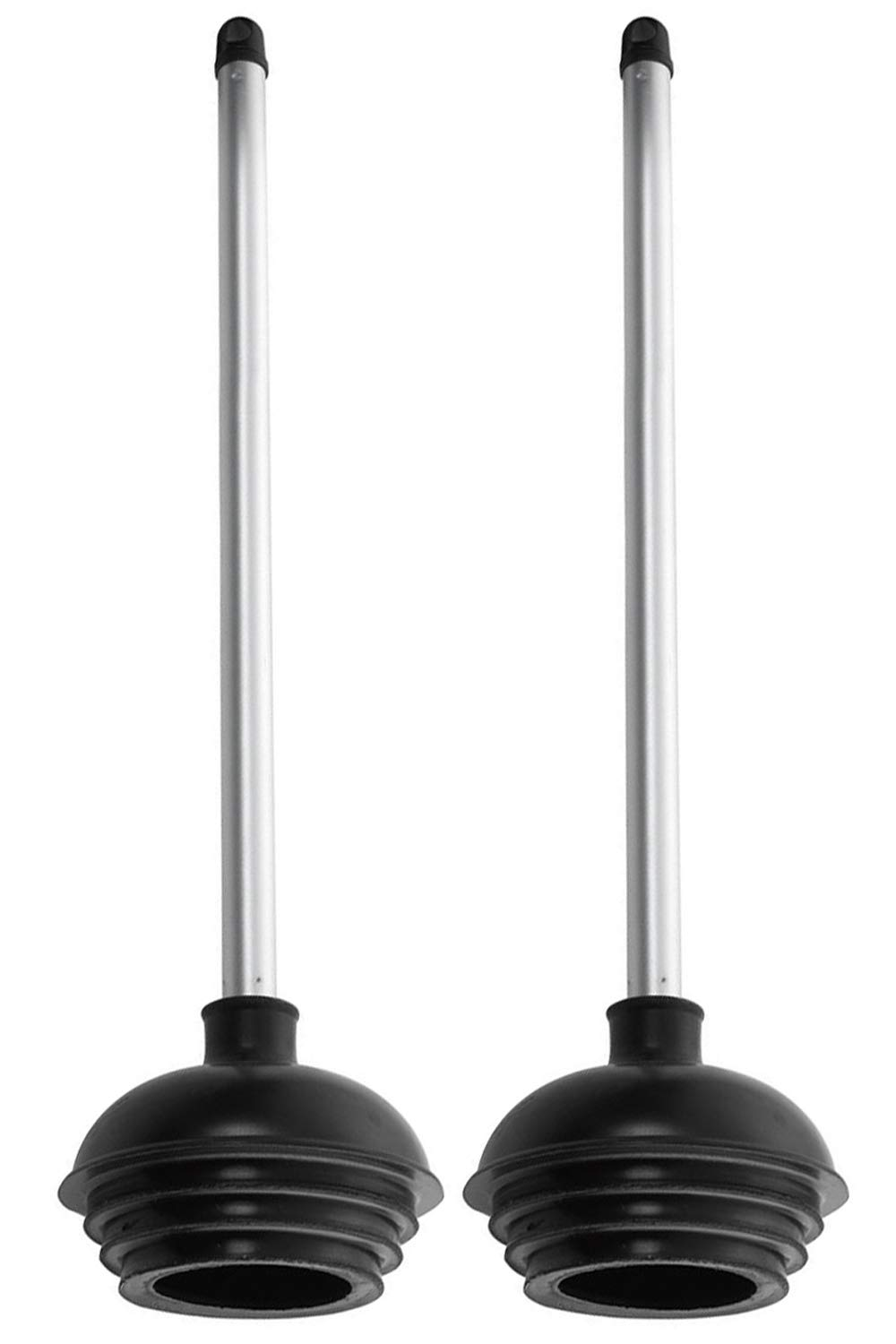 Neiko 60170A Toilet Plunger with Patented All-Angle Design | 2-Pack | Heavy Duty | Aluminum Handle by Neiko
