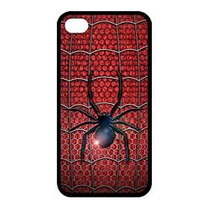 TPU Cover Case Otterbox For Iphone 4/4S - Spiderman Symbol Logo in Red Uniform Design