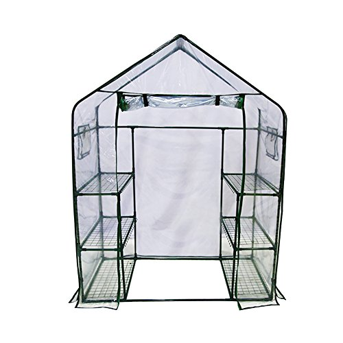 Abba Patio Mini Walk-In Greenhouse 6 Shelves Stands 3 Tiers Racks Portable Garden Green House, 56