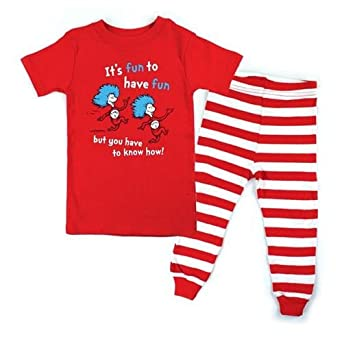 aeb2ab052 Amazon.com  Bumkins Unisex Baby Dr. Seuss Pajamas Set