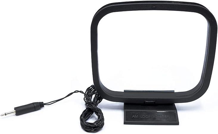 BZ Am Loop Antena Estéreo Marco de Antena Arnés Final con 3.5 niquelado Mono Stereo Cabeza para Recepción Interior Radio Señal