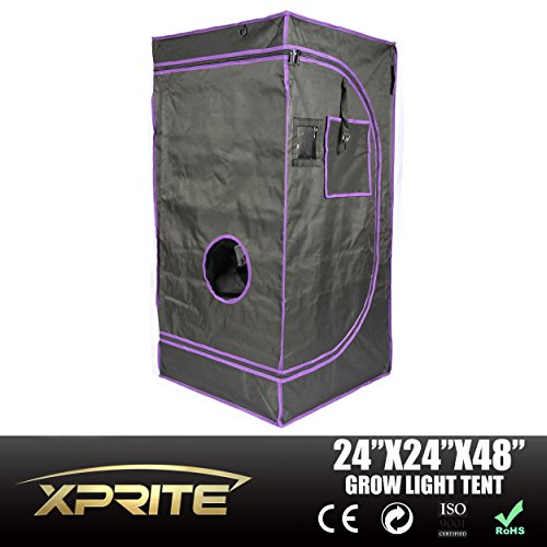 Xprite Mylar 100% Reflective Hydroponic Grow Tent for Indoor Plant Growing (24