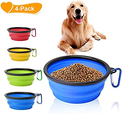 Travel Portable Collapsible Pet Dog Bowl for Food /& Water Bowls Dish Foldable SP