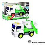 Purifier Recycle Trash Machine Car Garbage Dumping Truck Toys Friction Powered Green And White Vehicle With Light And Music Four Wheels With Batteries