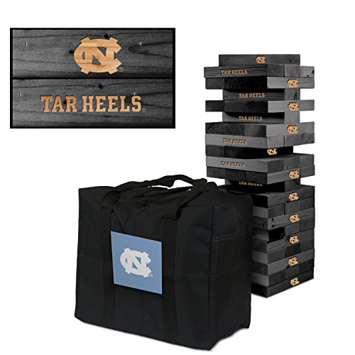 NCAA North Carolina Tar Heels UNC 850320North Carolina Tar Heels UNC Onyx Stained Giant Wooden Tumble Tower Game, Multicolor, One Size by Victory Tailgate