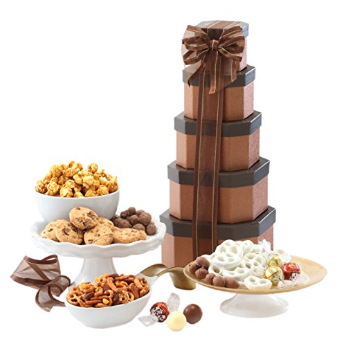 Broadway Basketeers Birthday Gift Tower. The Perfect Birthday Gift for All to Enjoy!