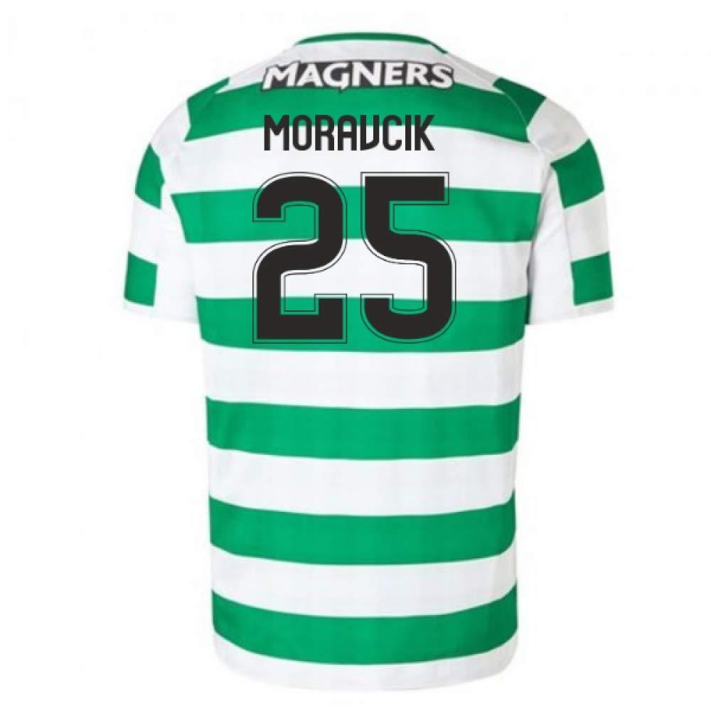 2018-2019 Celtic Home Football Soccer T-Shirt Trikot (Lubo Moravcik 25)