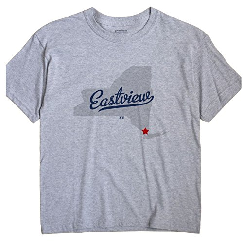 Eastview New York NY MAP GreatCitees Unisex Souvenir T - Eastview Ny