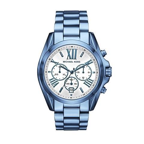 Michael Kors Women's Quartz Stainless Steel Casual Watch, Color:Blue (Model: MK6488) (Michael Kors Bradshaw Watch 43mm)