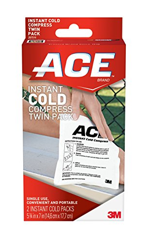 ACE Instant Cold Twin Pack (2 per pack), Helps Relieve Pain caused by Sprains and Muscle Aches, Money Back Satisfaction Guarantee ()