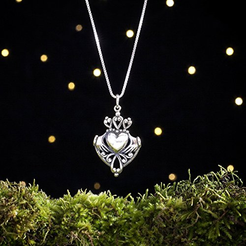 - Sterling Silver Irish Claddagh - (Pendant, Necklace or Earrings)