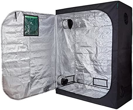 Oppolite 60 X32 X80 Indoor Grow Tent Room 600D Reflective Diamond Mylar Hydroponic Garden Growing Plant with Metal Corner 60 x32 x80