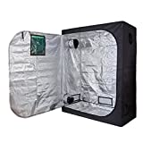 Cheap Oppolite 60″X32″X80″ Indoor Grow Tent Room 600D Reflective Diamond Mylar Hydroponic Garden Growing Plant with Metal Corner (60″x32″x80″)