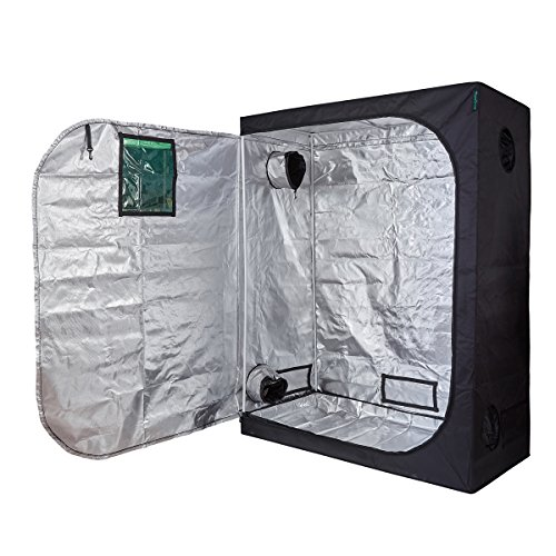 Oppolite 60″X32″X80″ Indoor Grow Tent Room 600D Reflective Diamond Mylar Hydroponic Garden Growing Plant with Plastic Corner (60″x32″x80″) Review
