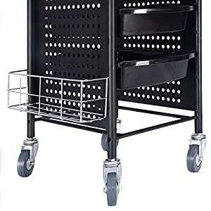 "PROSPERLY U.S.Product 40"" Beauty Salon Spa Styling Station Trolley Equipment Rolling Storage Tray Cart"