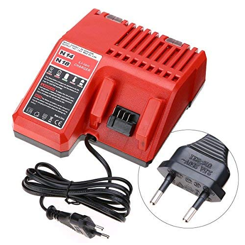 - 220V Lithium Li-ion Battery Charger Replacement For Milwaukee M18 18V EU Plug