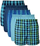 Gildan Men's Woven Boxer Underwear Multipack, Mixed Navy, Medium