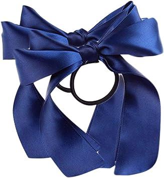 3 pair Polka Dot Bow Elastic Ponio Hair Bobble Assorted Colour Hair Tie Hairband