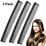 Best Barber Combs - 3 Pack Black Carbon Barber Comb,Hairdressing Styling Combs,Heat Resistant Review