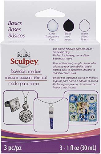 Polyform ALSTNT1 Sculpey Liquid Polymer Clay - Basics, Multicolor