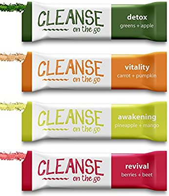 3 Day Juice Cleanse - Just Add Water & Enjoy - 21 Single Serving Powder Packets