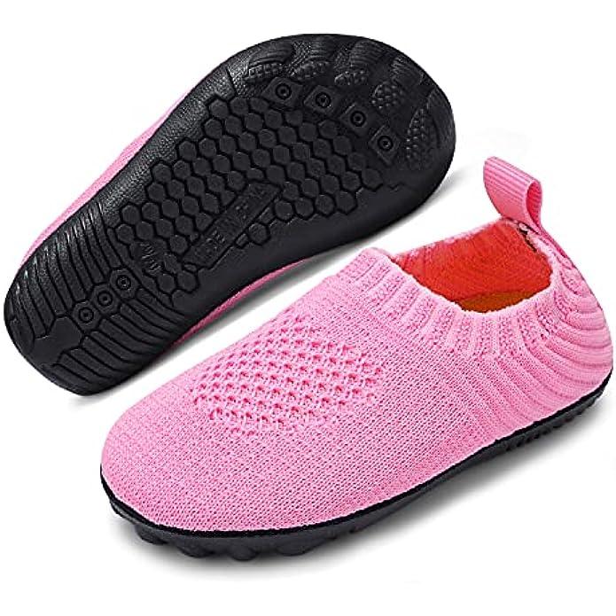 ANLUKE Toddler Boys Girls House Slippers Shoes Little Kids Non Slip Rubber Sole Socks Shoes Lightweight Indoor