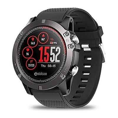 "Zeblaze Vibe 3 ECG Smart Watch, IP67 Waterproof 4.0 Bluetooth Sport Fitness Tracker 1.22"" Color Touch Screen, Activity Tracking Multi-sensors Mobile Alerts Pedometer Sleep Monitor Smartwatch"