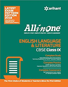 all in one english language literature class 9th old edition rh amazon in CBSE Solution My Cbse Guide Class 10