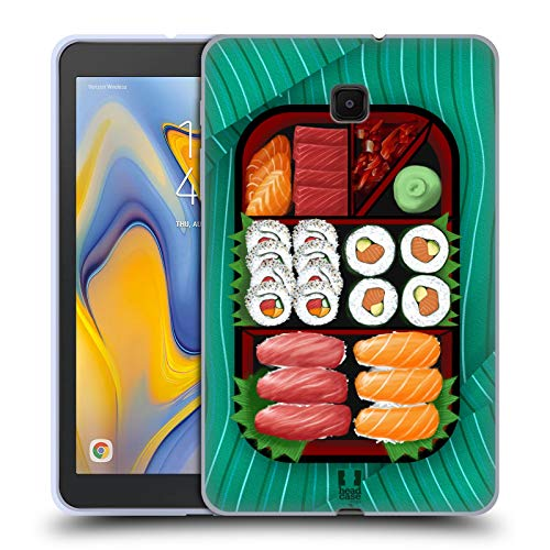 - Head Case Designs Sushi Sampler Oriental Food Soft Gel Case Compatible for Galaxy Tab A 8.0 (2018)