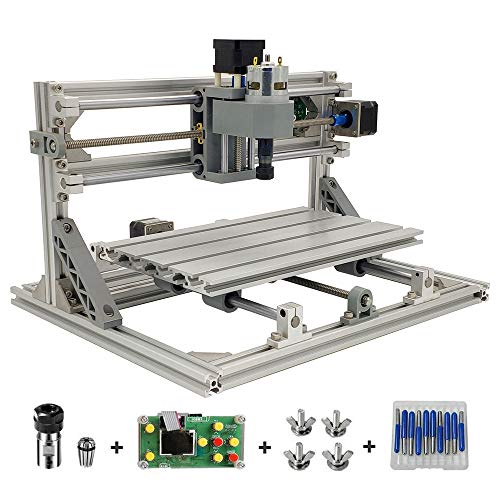 TOPQSC CNC 3018 Router Machine, 3 Axis GRBL Control DIY CNC Engraving Carving Milling Machine with Offline Controller, ER11 and 5mm Extension Rod – Working Area 30x18x4.5cm