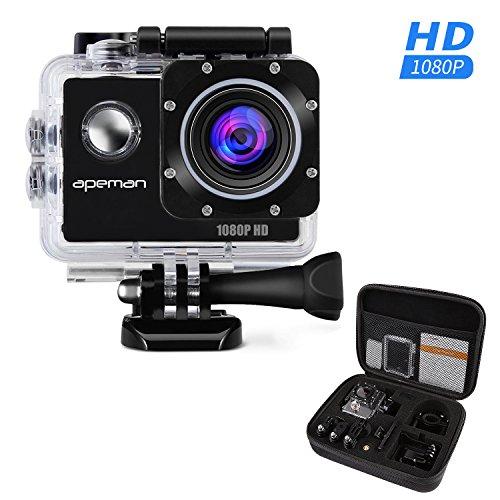 APEMAN アクションカメラ アクションカム スポーツカメラ フルHD 1080P高画質 170度広角レンズ 30m防水 携帯用バッグ付属 付属