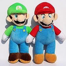 Super Mario Bros Big Mario Luigi Soft Plush Stuffed Animals Doll Kids Toys 2pcs/set