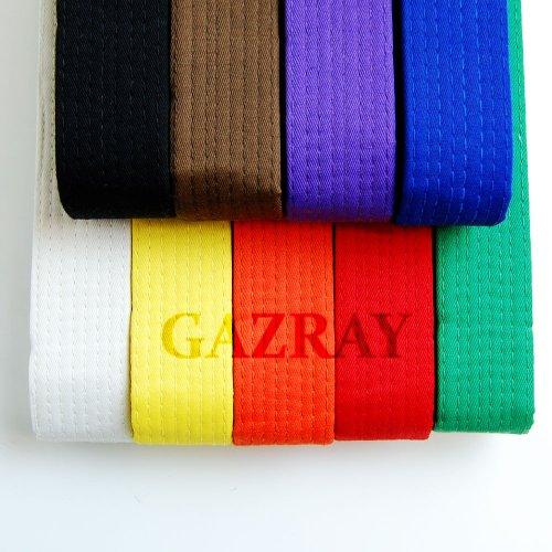 TaeKwonDo Karate Martial Arts Belts 8 Color Solid Belts All Sizes, Choose One Color