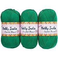 Hobby India CROCHET THREAD FOR ALL SEASONS- Crochey-100% Acrylic- 400mtr- 100gm- 75/ each ball