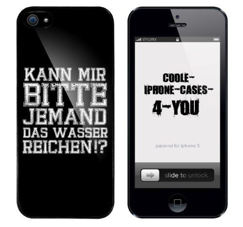 Iphone 5 Case Kann mir bitte jemand das Wasser reichen Rahmen schwarz