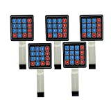 WINGONEER 5Pcs 4x4 Universial 16 Key Switch Keypad Keyboard For Arduino