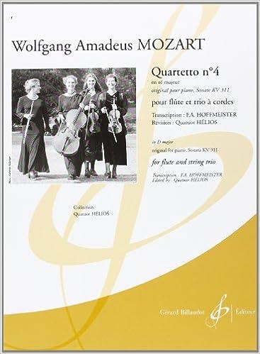 Book Quartetto N 4 en Re Majeur Original pour Piano Sonate KV 311