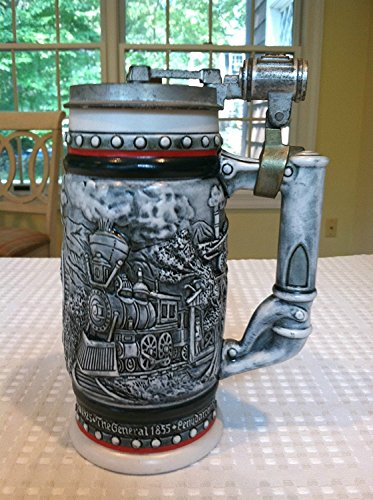 1982 Locomotives - Age of The Iron Horse Ceramic Stein Locomotive Railroad Train Beer Mug Avon 1982
