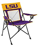Rawlings NCAA Game Changer Large Folding Tailgating and Camping Chair, with Carrying Case (ALL TEAM OPTIONS), Louisiana State Tigers