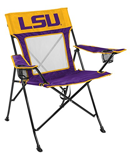 Rawlings NCAA Game Changer Large Folding Tailgating and Camping Chair, with Carrying Case, Louisiana State - Tigers Tailgate Lsu Chair