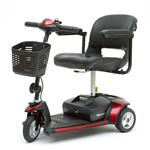 Freedom Scooter - Go-Go Elite Traveller Mobility Scooter by Pride 3-Wheel - Red/Blue
