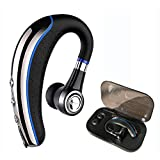 Bluetooth Headset,Ansin A8 Wireless Stereo Earphones V4.1 Bluetooth Headphones Lightweight Earpieces In-ear Earbuds with Microphone and MuteKey for iPhone and Android Smart Cellphone-Blue