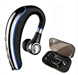 Bluetooth Headset,Ansin A8 Wireless Earpieces V4.1 Bluetooth Headphones Lightweight Earphones In-ear Earbuds with Microphone and Mute Key for iPhone and Android Smart Cellphone-Blue