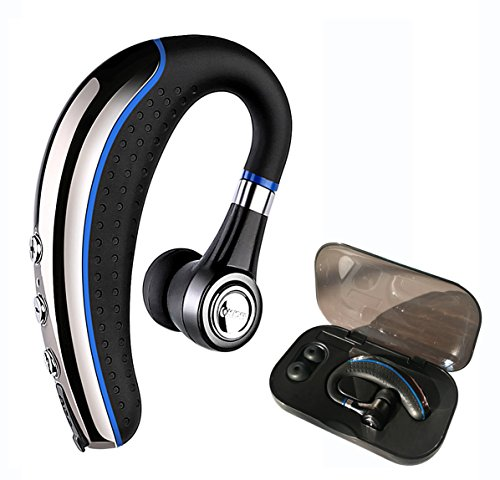 Bluetooth Headset,Ansin A8 Wireless Earpieces V4.1 Bluetooth Headphones Lightweight Earphones in-Ear Earbuds Microphone Mute Key iPhone Android Smart Cellphone-Blue