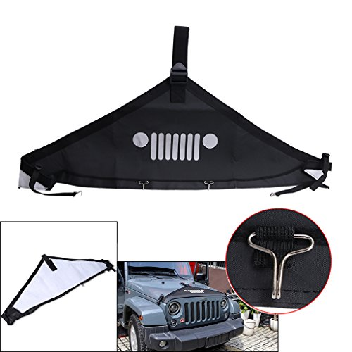 Kitty Party Jeep face style Front Hood Protective Bra Cover For Jeep Wrangler JK 2007-2017 Black