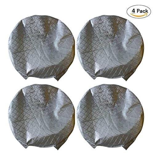 Top Best Bid Offer Set of 4 Tire Covers,Waterproof Aluminum Film Tire Sun Protectors,Weatherproof Tire Protectors (19-22inches)