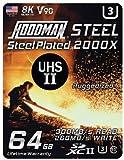 Hoodman 64GB Steel 2000x SDXC UHS-II...