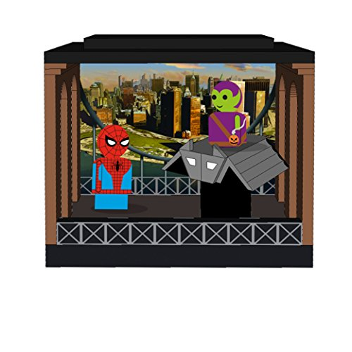 Bif Bang Pow! Spider-Man & Green Goblin Pin Mate Wooden Figures with Glider & Stackable Diorama - Convention Exclusive Action ()