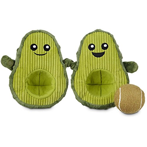 Leaps & Bounds Play Plush Avocado Dog Toy, 7